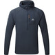Mountain Equipment Solar Eclipse Hooded Zip Tee Men Blue Nights
